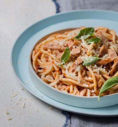 ספגטי עם טונה