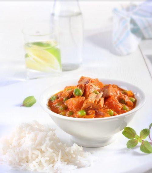 Smoked tuna in curry